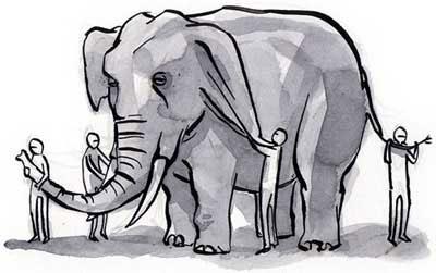 пользовательский опыт мудрецы пытаются понять, какой он, слон