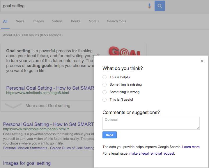 ранжирование в Google проверка пользователями