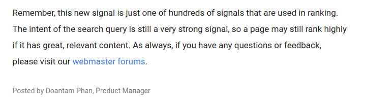 релевантность как фактор ранжирования в Google