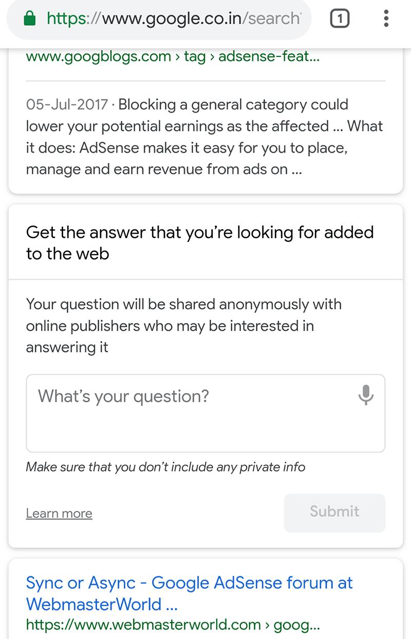 новый эксперимент выдачи Google