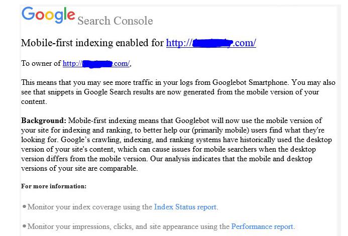 уведомлление Google