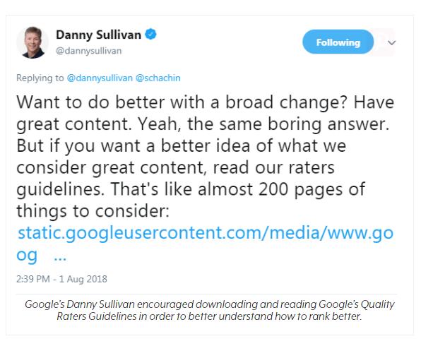 Дэнни Салливан обб обновлении основного агоритма