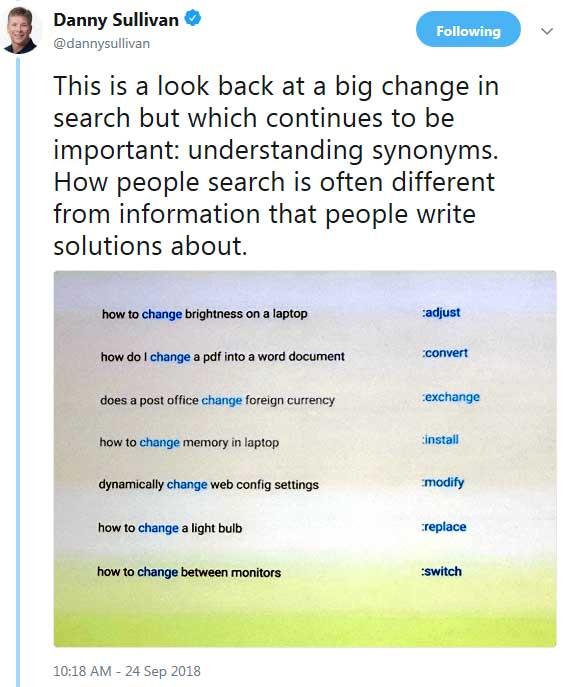 алгоритм нейронных соответствий Google пример