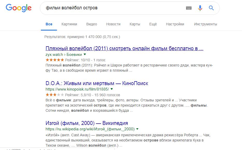 поиск Google понимает и интерпретирует запрос пользователя