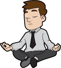 офисный сотрудник медитирует, эффект свидетеля, когда сотрудник полагает, что задачу выполнит кто то другой